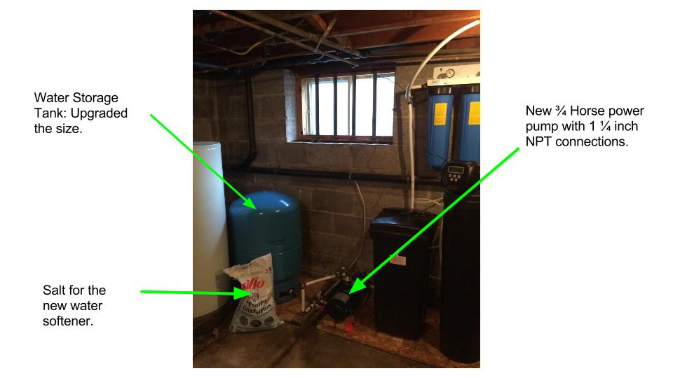 New Water Storage – Tank and Pump